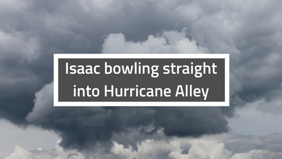 Isaac bowling straight into Hurricane Alley